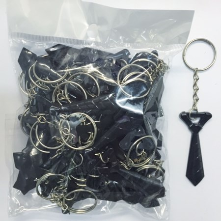 Chaveiros Gravatinhas Preta Para Hora da Gravata do Noivo Pacote c/ 50 unidades