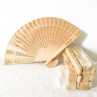 Leque de madeira Tamanho 20cm