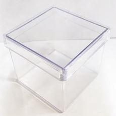 Caixinha Acrílica Transparente 4x4 Pacote c/10 unidades