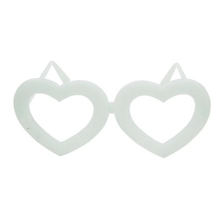 Óculos Coração Neon Brilha no Escuro s/ Lente 10 Unidades