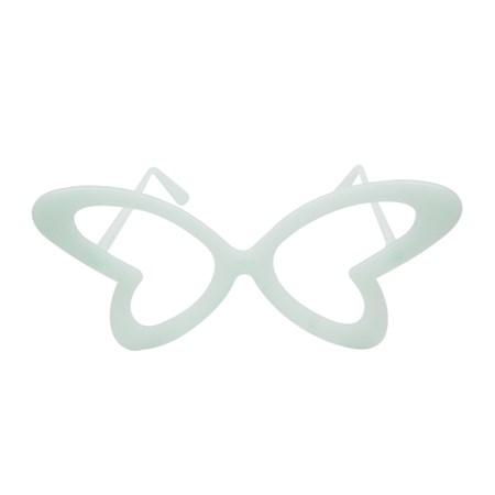 Óculos Borboleta Neon Brilha no Escuro s/ Lente 10 unidades