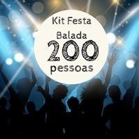 Kit Festa Balada p/ 200 pessoas