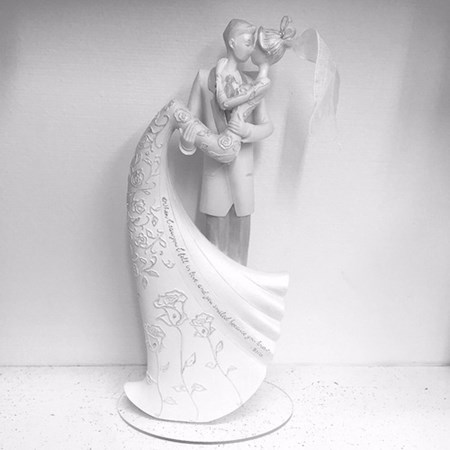 Topo de Bolo Noivinhos Porcelana