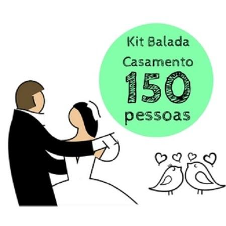 Kit Festa Balada Casamento 150 Pessoas