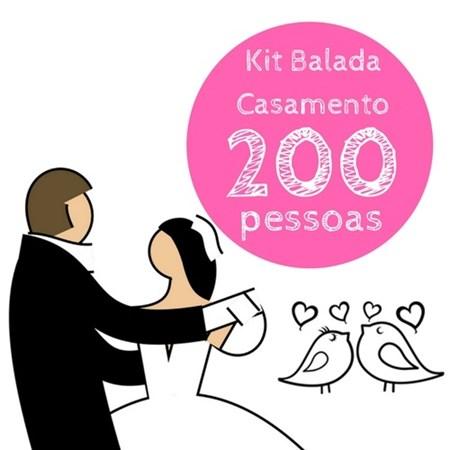 Kit Festa Balada Casamento 200 Pessoas