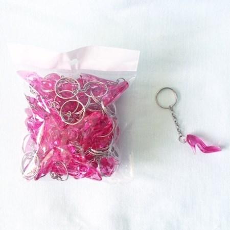 Chaveiros Sapatinhos Pink Para Hora do Sapato da Noiva Pacote c/ 50 unidades
