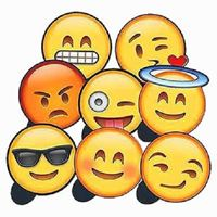 Plaquinhas Divertidas Emoji WhatsApp Kit 2 Festança