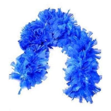 Boá Grande de Plumas Azul