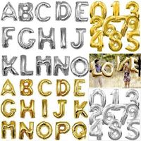 Balão Metalizado Números e letras Dourado Prata