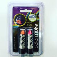 Kit Baton Neon Fluorescente c/2 Laranja e Pink