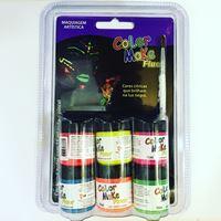 Kit Tinta Neon Fluorescente 6 cores