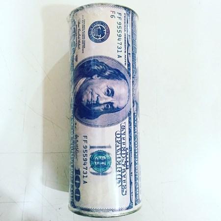 Cofre Lata Dollar Para Por Dinheiro da Gravata