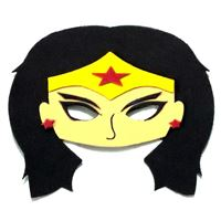 Mascara Mulher Maravilha c/ 4 Unidades