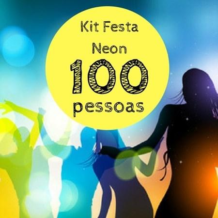 Kit Festa Balada Neon p/ 100 pessoas
