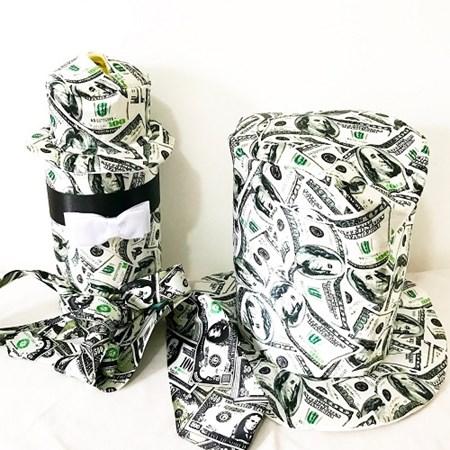 Kit Cartola Gravata e Cofre Dolar