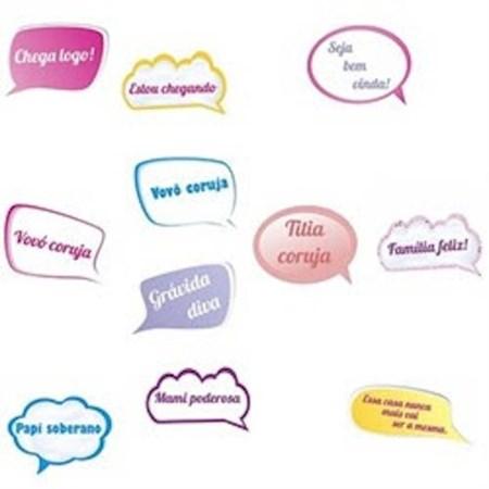 Plaquinhas Divertidas - Kit Festa 7 - Chá de Bebê Menina