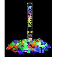 Lança Confetes Neon Festa Brilha Luz Negra Florescente