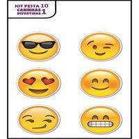 Plaquinhas Divertidas Emoji (Kit festa 10)