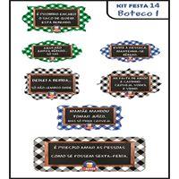 Plaquinhas Divertidas - Kit festa Boteco 1