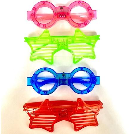 Óculos De Led Pisca Cores Sortidas Neon