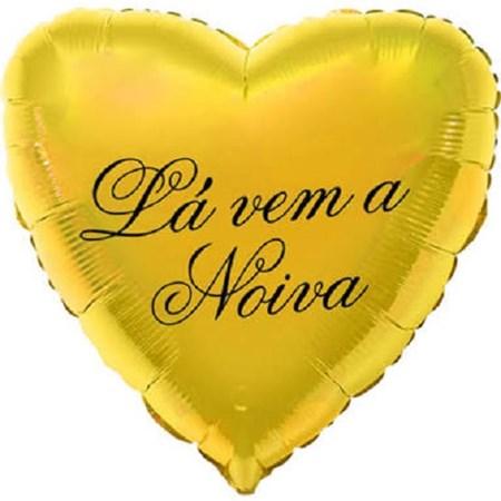 Balão Dourado La Vem a Noiva