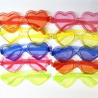 Óculos Coração Colorido c/ Lente 10 Unidades