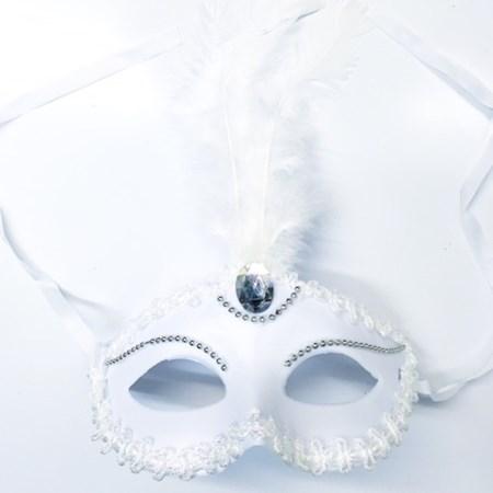 Máscara Branca Noiva Luxo