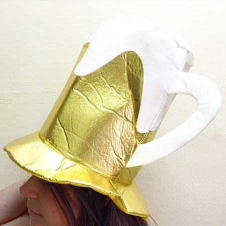 Cartola Chopp Dourado e Branco