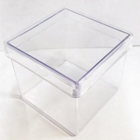 Caixinha Acrílica Transparente 3x3 Pacote c/10 unidades