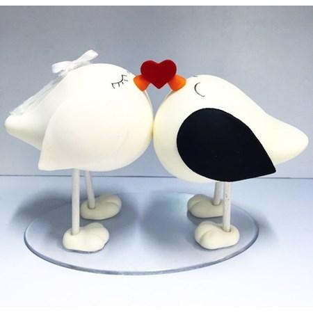 Topo de Bolo Pombinhos Love Birds de Biscuit