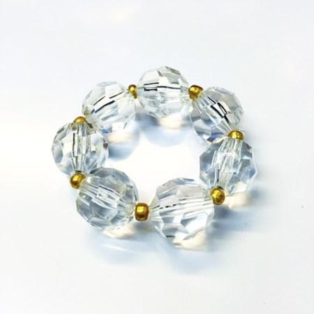 Porta Guardanapo Cristal Acrílico c/ Detalhes Dourado Caixa c/ 50 Unidades