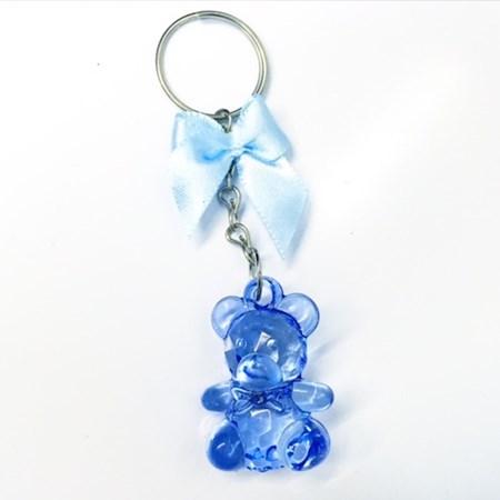 Lembrancinha Chá de Bebê Chaveiro Ursinho Azul 20 unidades