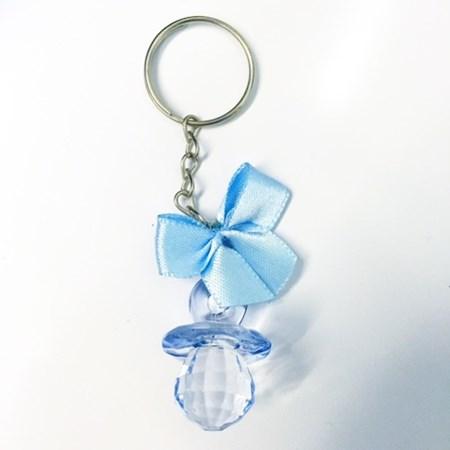 Lembrancinha Chá de Bebê Chaveiro Chupeta Azul 20 unidades