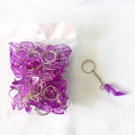 Chaveiros Sapatinhos lilás Para Hora do Sapato da Noiva Pacote c/ 50 unidades