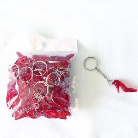 Chaveiros Sapatinhos Vermelho Para Hora do Sapato da Noiva Pacote c/ 50 unidades