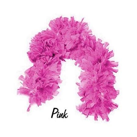 Boá Grande de Plumas Pink