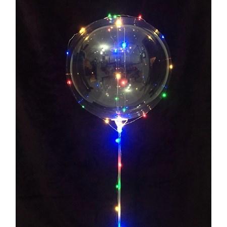 Balão de Led Bubble 45 Cm Transparente Festa cada Unidade