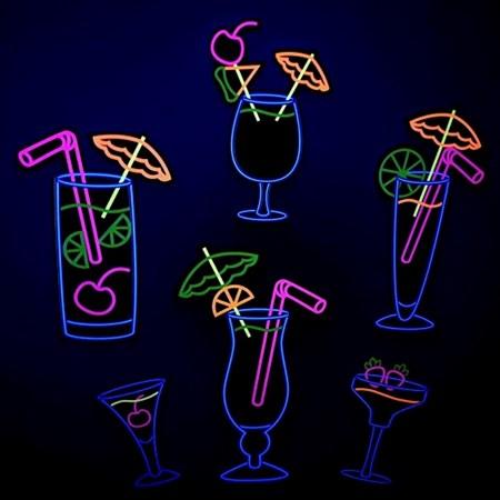 Painel Drink Neon Destacável