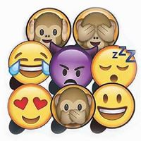 Plaquinhas Divertidas Emoji WhatsApp Kit 1 Festança