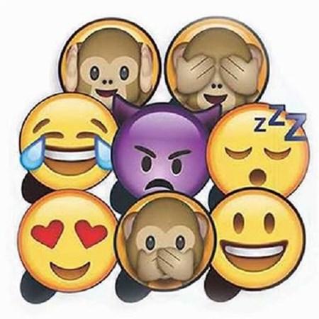 Plaquinhas Divertidas Emoji WhatsApp Kit 1 Festança