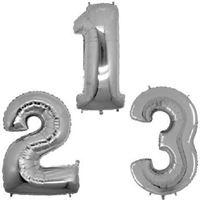 Balão Metalizado em Formato de Número