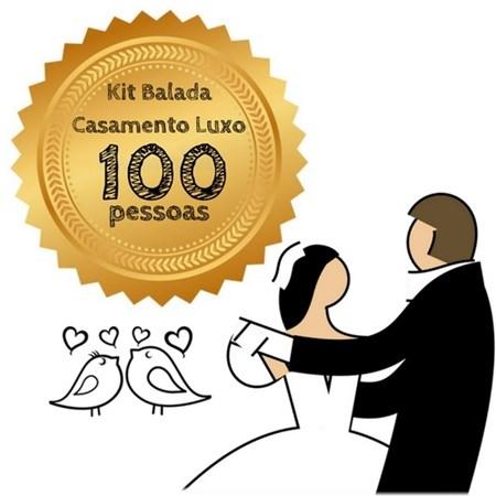 Kit Balada Casamento Luxo 100 Pessoas