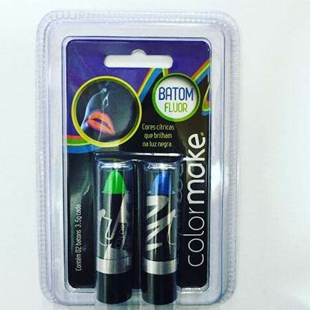 Kit Baton Neon Fluorescente Azul e Verde