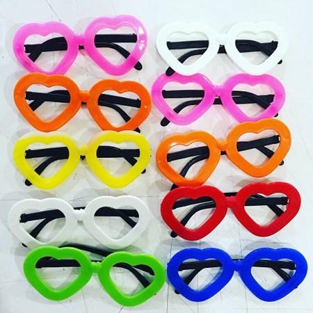 Óculos Coração colorido c/10 Unidades