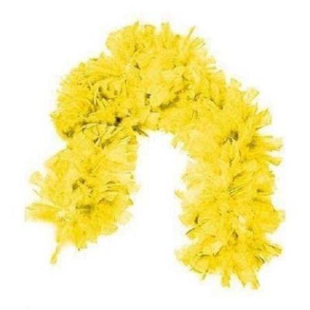 Boá Grande de Plumas Amarela
