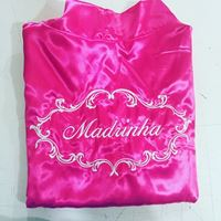 Robe Madrinha de Cetim Pink
