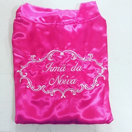Robe Irmã da Noiva Cetim Pink