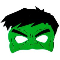 Mascara hulk c/ 4 Unidades