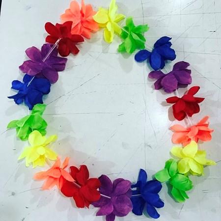 Colar Havaiano Colorido de Tecido Neon
