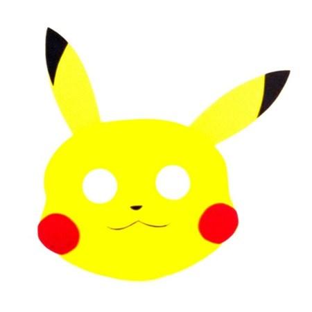 Mascara Pokemon Pikachu c/4 Unidades
